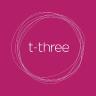 t-three logo
